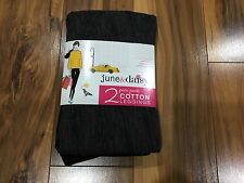 NWT Women's 2 June & Daisy Cotton Leggings Size Large Black/Grey #550G