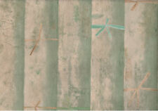 Faux Bamboo Wallpaper in Greens And Tans -  YE1580