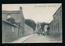 France Maine-et-Loire LES GARDES Rue de l'Eglise c1900s? PPC