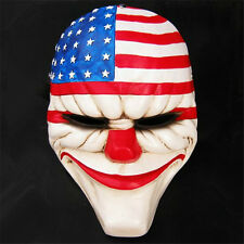 Payday2 The Heist Dallas Stars Stripe Resin Mask Cosplay Costume Prop Collection