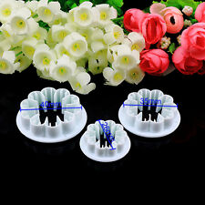 3pcs Carnation Flower Cake Fondant Sugar Craft Mold Cutter Gum Paste Decor Tools