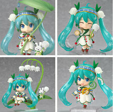 New Vocaloid Snow Hatsune Miku Lotus Leaf Ver Figure Figurine 3pcs