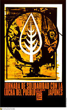 Political cuban POSTER.Solidarity w/Japan.asian.Asia 9.Revolution Art Design