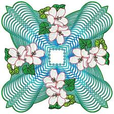 FLORAL PATTERNS 10 MACHINE EMBROIDERY DESIGNS CD 3 SIZES