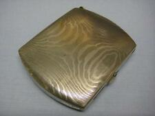 ANTIQUE NICKEL PLATED ECCOLO CIGARETTE CASE WITH PERMANENT MATCH STRIKER