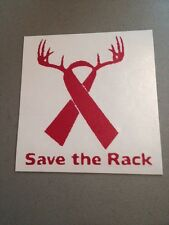 Save The Rack Breast Cancer Pink Vinyl Die Cut Decal,window,laptop,car,truck