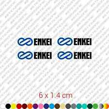 x4 Enkei wheel rims sticker restoration decal kit - Blue + Black