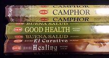 MEDICINE Camphor Health Healing 60 HEM Incense Sticks 3 Scent Sampler Gift Set