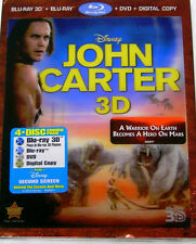 John Carter (Blu-ray/DVD, 2012, 4-Disc Set, Includes Digital Copy; 3D/2D) New