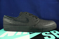 NIKE ZOOM STEFAN JANOSKI L LEATHER BLACK ANTHRACITE OSTRICH 616490 007 SZ 9.5
