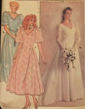 VTG 86 BUTTERICK 3615 MS/MP Shaped Bodice Wedding/Bridal Gown/Dress PATTERN Sz 8