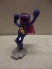 VINTAGE APPLAUSE SESAME STREET MUPPETS SUPER GROVER PVC FIGURE