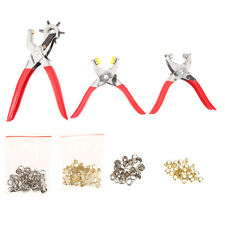 128Pcs Set Leather Hole Punch Repair Tool with Eyelets Grommets and Pliers Hot