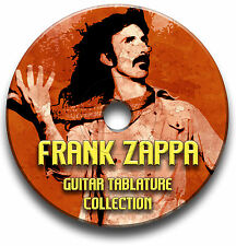 FRANK ZAPPA ROCK JAZZ GUITAR TABS COLLECTION TABLATURE SONG BOOK SOFTWARE CD
