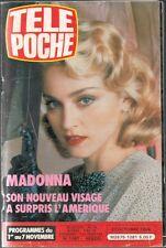 MADONNA_SYLVIE VARTAN_VIKTOR LASZLO_ FRENCH MAG TÉLÉ POCHE 1081 (1986 OCTOBER)