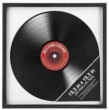 "Record Album Frame Retro Vinyl LP Cover Square Frame Wall Display 12"" New"