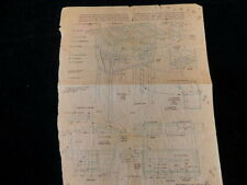 Vintage Construction Plan Drawing for Building a tree house w/materials list A93