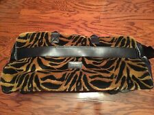 LOCOMOTE FOX TIGER FUR / BLACK LEATHER   ROLLING CARRY-ON DUFFLE BAG LUGGAGE