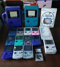 Nintendo Gameboy Console Lot With 2  Games and 2 cases