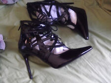 BRAND NEW C LABEL SHOES SEXY ZIPS AND TIES IN FRONT SIZE 7 1/2