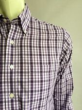 Brooks Brothers Shirt, Kingman Plaid, Small, Slim Fit, Non-Iron, Excellent Cond