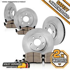 Front Rear Rotors Ceramic Pad 2011 2012 2013 DODGE DURANGO JEEP GRAND CHEROKEE