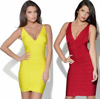 Ladies Backless Bandage Bodycon Evening Cocktail Sexy Celeb Party Dresses