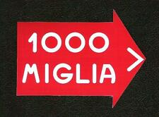 1000 Miglia, Mille Miglia Sticker, Alfa Ferrari, Vintage Sports Car Racing Decal
