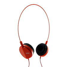 Cuffie Breo Natal MUSICA MP3 leggero CABLATO BASS Viaggio 3.5 mm RED