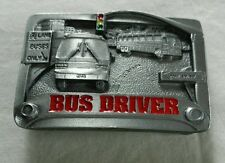 BUS DRIVER OCCUPATIONAL VEHICLE BELT BUCKLE C&J INC MADE IN USA NEW