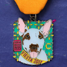 2017 The Cannoli Fund Dog Fiesta Medal San Antonio Bull Terrier Mix Mutt Rescue