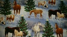 LINED VALANCE 42X15 CHRISTMAS TREE WINTER HORSE BARN ANIMALS THE GIFT LAMB