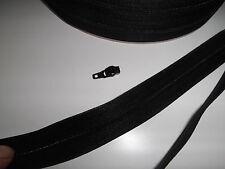 Reißverschluß schwarz Meterware mit passendem Zipper pro Meter