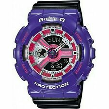 100% Original CASIO BABY-G BA-110NC-6A PURPLE ANALOG DIGITAL