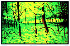 Summer Woods Flocked Blacklight Poster Art Print Blacklight Poster Print, 24x36