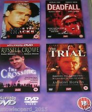 4 MOVIE COLLECTION DVD FILM - Deadfall / The Trial / Across Tracks / Crossing