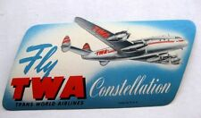 Vintage TWA Constellation Luggage / Baggae Sticker