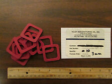 10 Tilley Manufacturing Chamber Sealing Gaskets 576-0029-000 3mm Thick New