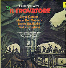 Verdi IL TROVATORE Gencer Del Monaco Bastianini Barbieri - 3 LP box REPLICA mint