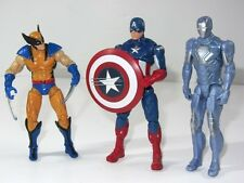 Marvel Avengers Toy Figure Set  WOLVERINE vs CAPTAIN AMERICA & IRON MAN