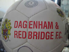 Dagenham and Redbridge 2012-2013 Squad Signed Football with FLT Charity Letter
