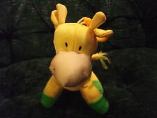 "8"" yellow Giraffe with hook made by Kellytoy, bubblegum friends"