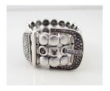 Vintage Silver Crystals Unique Belt Bracelet