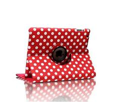 Kolorfish Apple iPad Air 360 Rotating  Leather Cover Case Stand - iLittle- Red
