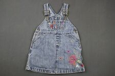 BABY GAP Baby Girl Overalls 12-18 Months Blue Denim Embroidered Shorts