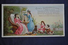 Ayers Sarsaparilla Victorian Card, Lowell Mass.