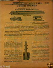 1915 PAPER AD 9 PG Concrete Fence Posts Cinder Building Block Forms Leader