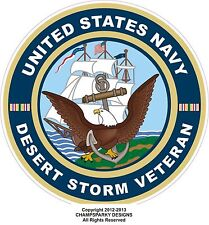 United States Navy Desert Storm Veteran Decal Bumper Sticker USA USN