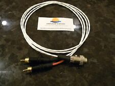 4ft NAIM RCA to DIN5 locking NAIT NAC AMPLIFIER CUSTOM SILVER PLATED AUDIO CABLE