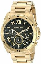 Michael Kors Men's MK8481 Brecken Chronograph Black Dial Gold-Tone Steel Watch
